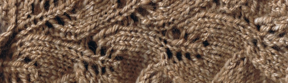 Detail: Hand spun, hand knitted Baby Camel and Silk..