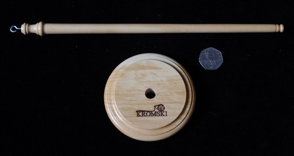 Kromski drop spindle, flat